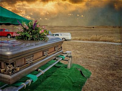 Sandhills Burial - Third Place Photo Journalism