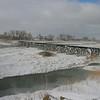 o-abandoned railroad bridge on the platte