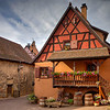 T - Street Scene In Eguisheim France