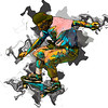 C - Abstract Skateboarder