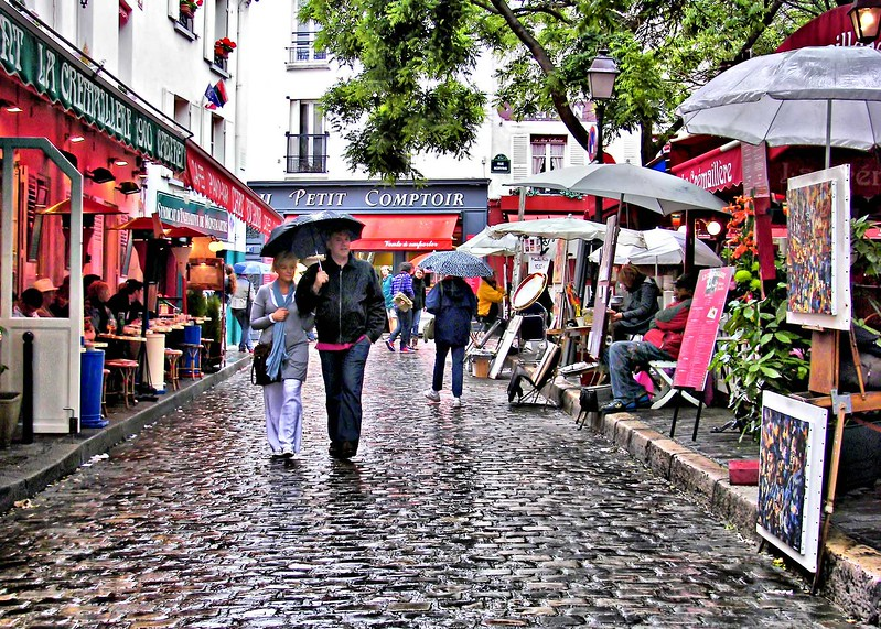 Rainy Day at Place du Terte - France