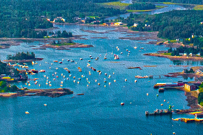 Boats in Frenchman Bay, Mount Desert Island, Bar Harbor, Maine