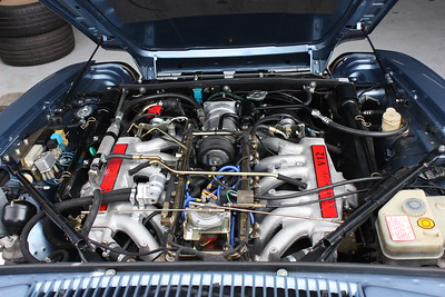 Engine bay looks very similar to original