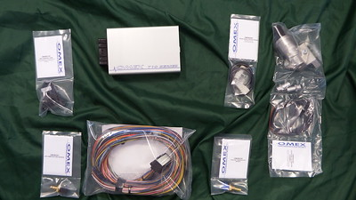 The Omex kit of ECU and various sensors, and idle speed controller