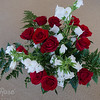 Red Roses and White Canterbury Bells.