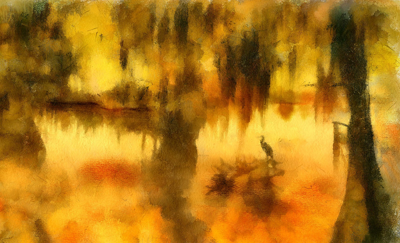 Louisana Biyou.  Watercolor brushes using Painter XII.
