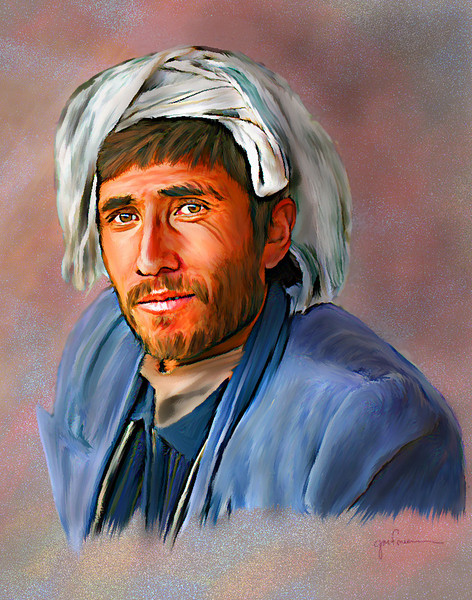 Arab Man<br /> <br /> This image was the result of a tutorial exercise for Bran Buttry's Virtual Pastel DVD series on pastel painting in Photoshop.