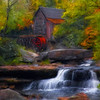 This is another image of the Grist Mill located in Babcock State Park in West Virginia. <br /> <br /> Rendered using Painter XI