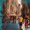 Streets of Siena.  Images was done as part of a course on Digital Art using Painter 12.  Source photo from DDA.