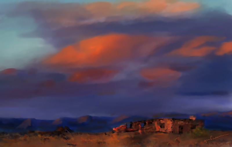 Desert Storm.  Painted using pastel brushes in Painter XII.