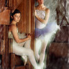 Two young ballerinas. No painting has been attempted here, rather just some lighting effects and some bet fiddling in the background and edges.