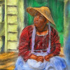Early American Girl,  Williamsburg, Va<br /> <br /> Rendered using Painter XI and  Photoshop CS5.