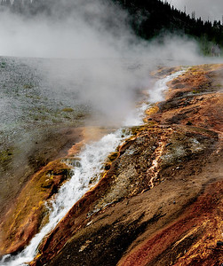 Stream from Prismatic Pool, Yellowstone