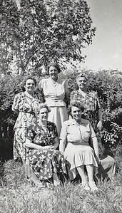 """""""Front- Aunt Mae & Sister Lela Back-Belle on back left, aunt Mae's sister"""""""