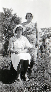 """Dorothy standing & Vera Sitting"""