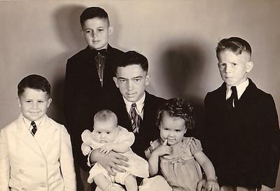 """Walt's children Jim, Jack, Rollin, Tom, Mary and (unknown)"""