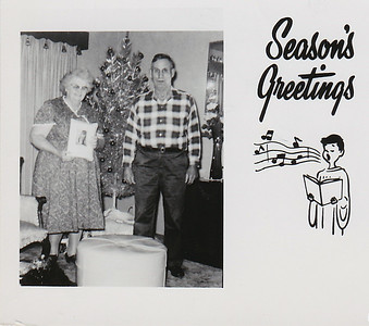 """""""Wishing you a Merry Christmas and a Happy New Year. -Bob and Nellie"""""""