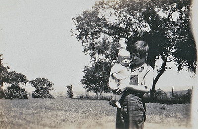 """Vera Mae holding Jim Reardon"""