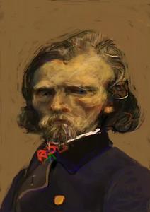 Eugene Delacroix (caricatured) (Video)