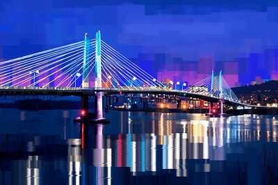 Tillikum Crossing Portland OR - Digital Painting