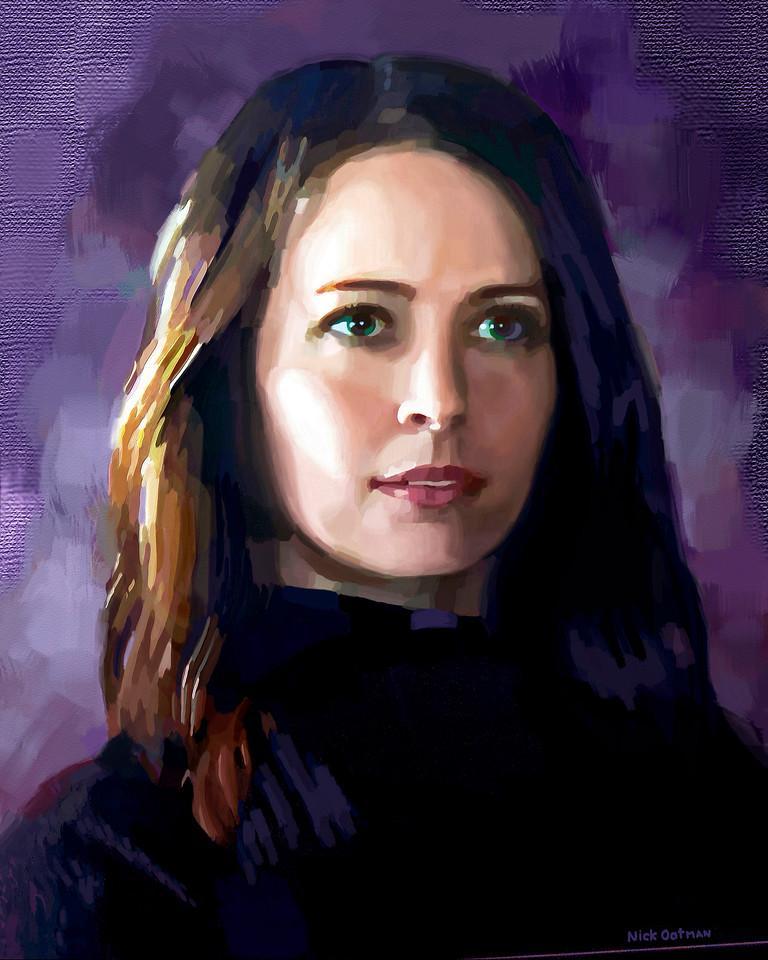 Amy Acker - Digital Painting