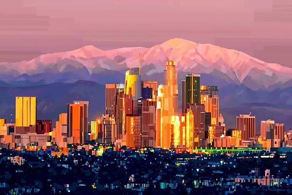 Los Angeles, CA - Digital Art Painting