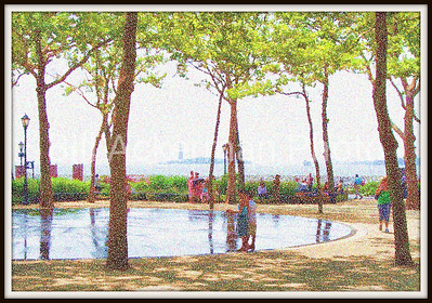 Seurat's Afternoon at Battery Park