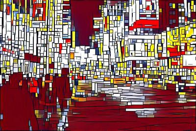 Mondrian Visits Times Square