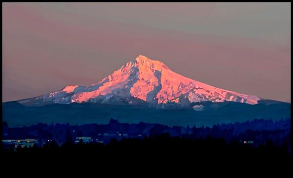 Mt. Hood, Oregon - Digital Painting
