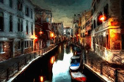 Venice, Italy at Dusk
