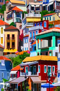 Parga Greece - Digital Painting