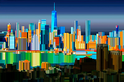 New York Harbor - Digital Painting