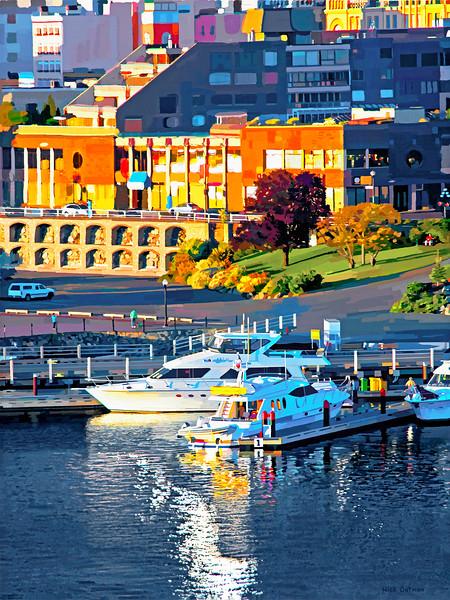Victoria, BC - Inner Harbor - Digital Painting