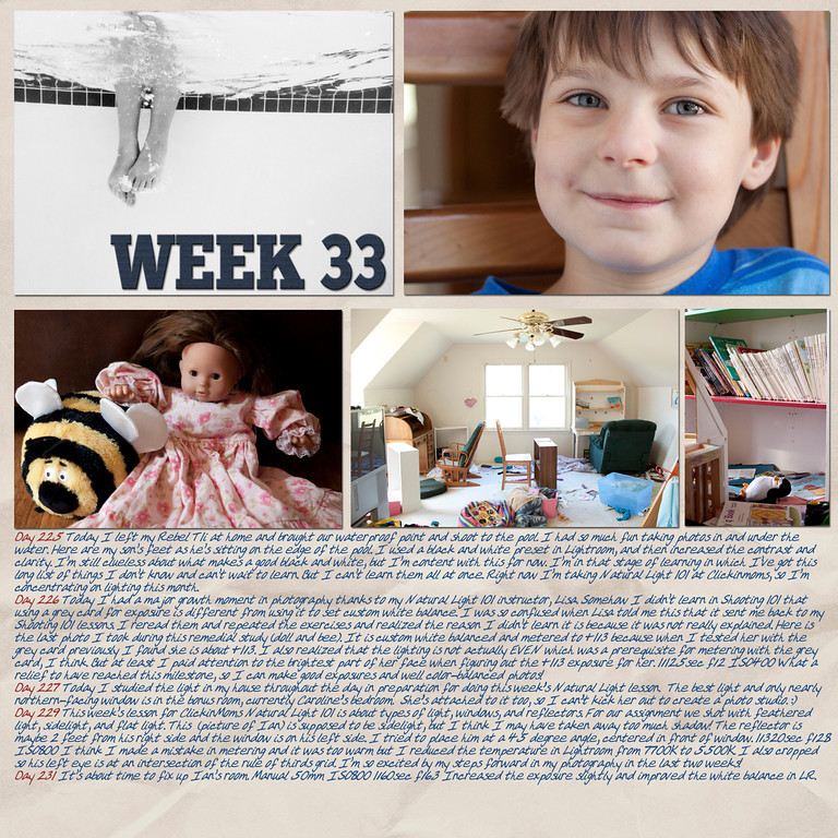 Week 33<br /> papers by Andilynn Designs at ScrapMatters; week title template by Michelle Batton at Funky Playground Designs