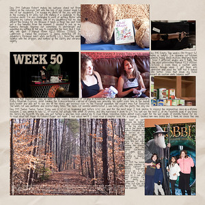 Week 50 papers by Andilynn Designs at ScrapMatters; week title template by Michelle Batton at Funky Playground Designs