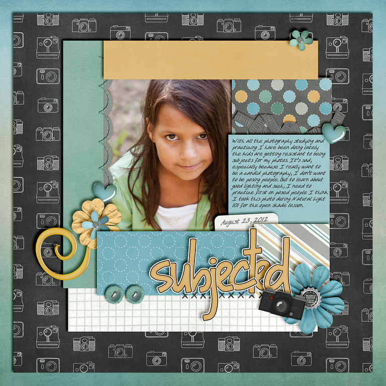 Week 34 <br /> kit Oh Snap by Chelle's Creations <br /> template by Scrappin With Liz<br /> both at ScrapOrchard