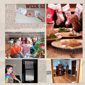 Week 52 papers by Andilynn Designs at ScrapMatters; week title template by Michelle Batton at Funky Playground Designs
