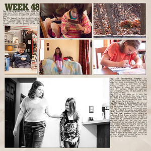 Week 48 papers by Andilynn Designs at ScrapMatters; week title template by Michelle Batton at Funky Playground Designs