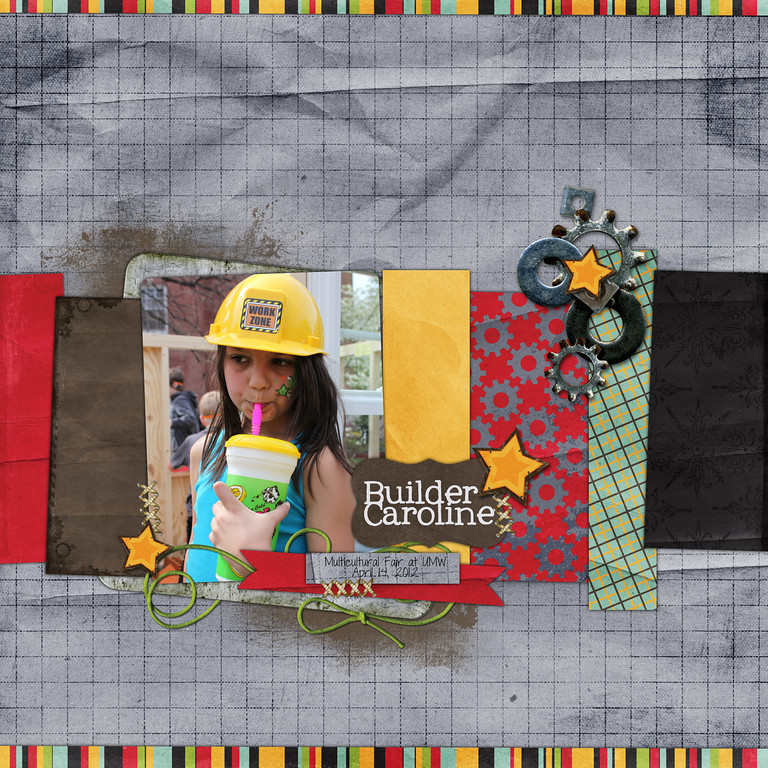 Week 15<br /> Road Maps Volume 6 template and Wild Thing kit by Down This Road Designs