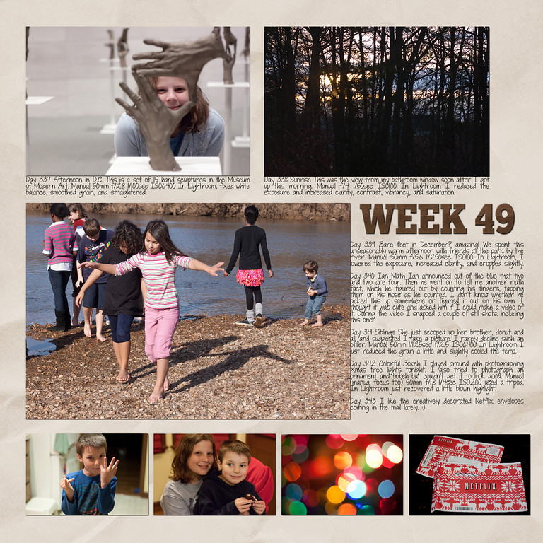 Week 49<br /> papers by Andilynn Designs at ScrapMatters; week title template by Michelle Batton at Funky Playground Designs