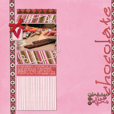 created for ScrapMatters February Challenge #3: a layout dominated by red and pink http://scrapmatters.com/forums/showthread.php?t=27428 Down This Road Designs' new kit Sweet Nothings