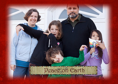 """our holiday card for 2012 the word art came from ScrapGirls; I added the """"and FUN"""" part"""