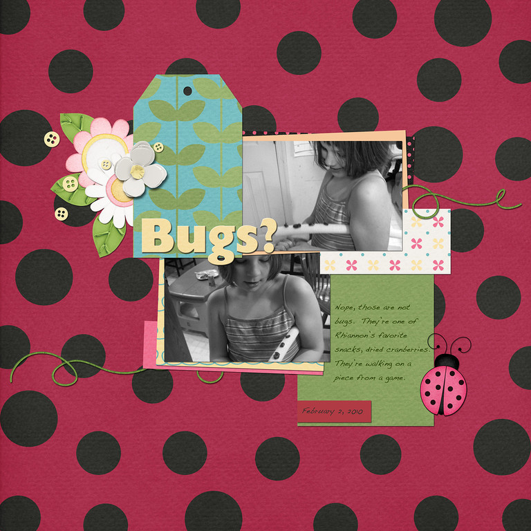 Road Maps Vol 10 template and Cute Lady Bug kit both by Down This Road Designs