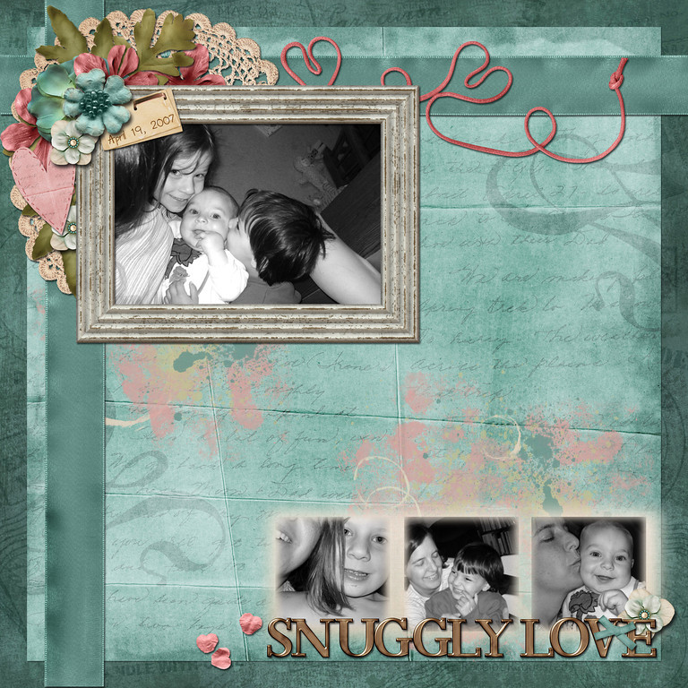 my first layout for Down This Road Designs with her new kit, Love Letters, coming out Jan 20