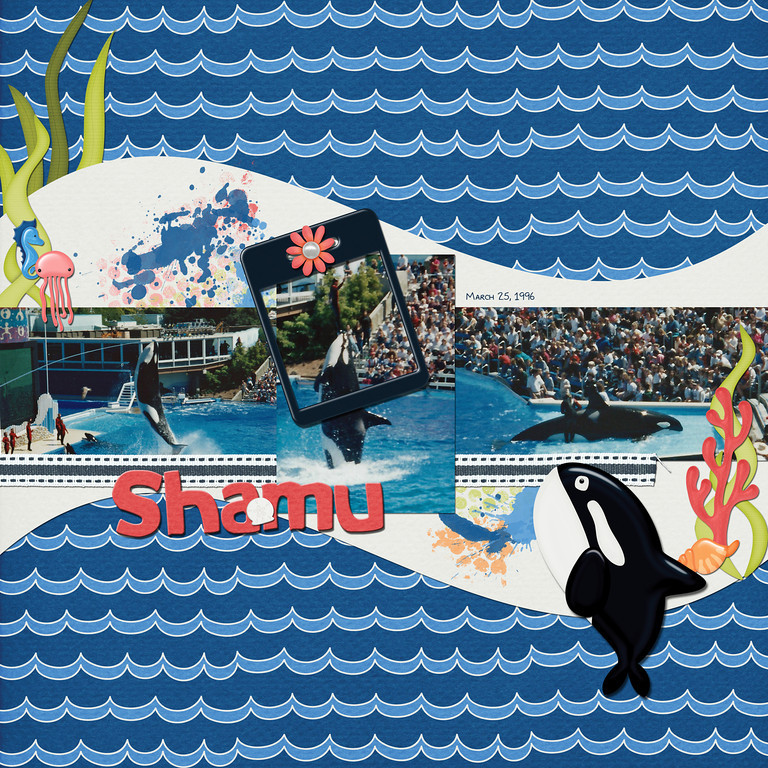 "These photos are from my parents' visit to Sea World in 1996.<br /> Sea Life Parade, part of ScrapMatters' June Mix A Kit, by Down This Road Designs <a href=""http://shop.scrapmatters.com/product.php?productid=11384&cat=0&page=1"">http://shop.scrapmatters.com/product.php?productid=11384&cat=0&page=1</a> <a href=""http://shop.scrapmatters.com/product.php?productid=11385"">http://shop.scrapmatters.com/product.php?productid=11385</a> <a href=""http://shop.scrapmatters.com/product.php?productid=11386"">http://shop.scrapmatters.com/product.php?productid=11386</a>"