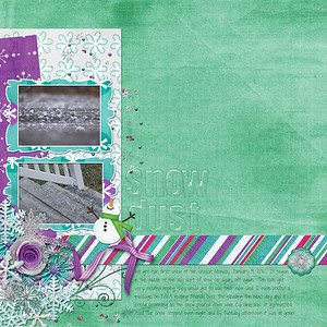 Week 02 created for ScrapMatters' speed scrap January 13 all from Down This Road Design's kit, Snowy Tales except the acrylic alpha from Creating With Caren