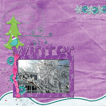 Down This Road Designs Snowy Tales http://shop.scrapmatters.com/snowy-tales.html I created this for a blog tutorial I wrote that will be posted February 25. http://www.downthisroaddesigns.com/blog/
