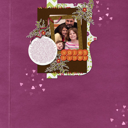 Week 07 created for ScrapMatters February Challenge #16, in which we had a list of requirements for the layout, starting with resizing all the elements of a template. http://scrapmatters.com/forums/showthread.php?t=27428 This template and all the elements are from the ScrapMatters collab, Garden Party.