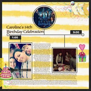 Caroline's 14th Birthday Celebration