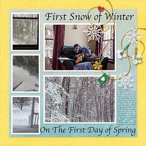First Snow of Winter, First Day of Spring